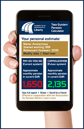 App de comparación entre sistemas de pensiones | Pension system comparison app